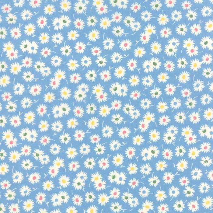 Fresh Air Spiky Flowers Light Blue