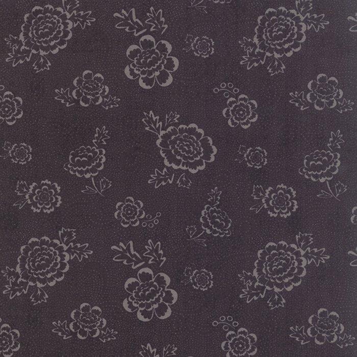 Black Tie Affair Whimsy Floral Grey Black