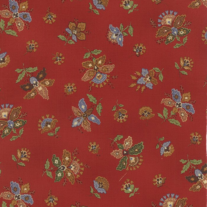 Celeste Floral Paisley Blooms Red