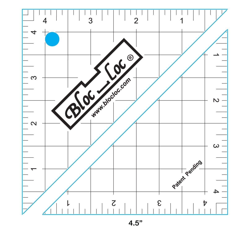 4.5 Bloc Loc Half Square Triangle square up ruler