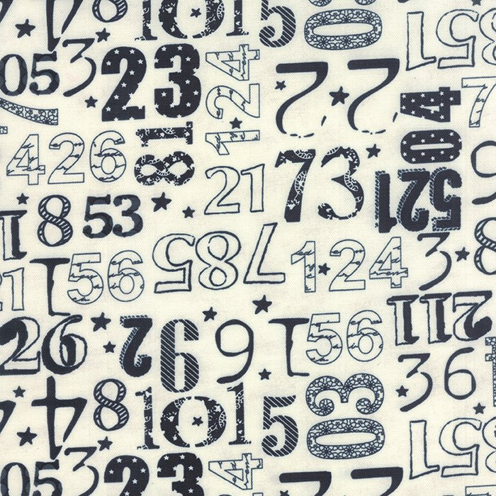 The Boat House Crew Numbers Cream Navy Canvas