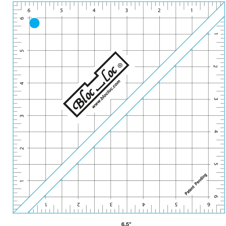 6.5 Bloc Loc Half Square Triangle square up ruler