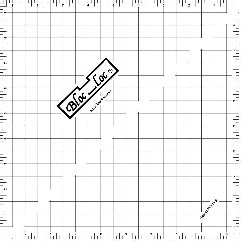 9.5 Bloc Loc Half Square Triangle square up ruler