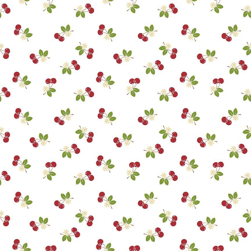 Sew Cherry 2 Cherry White