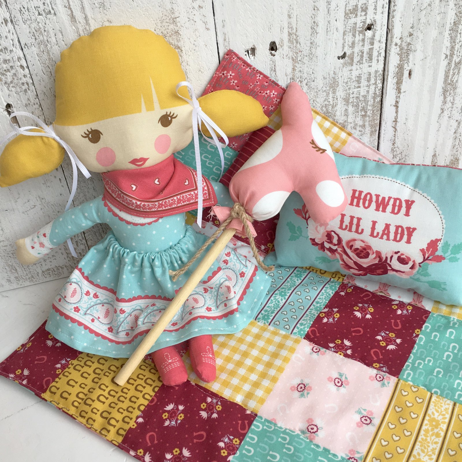 Howdy Panel Lil Lady Doll Multi