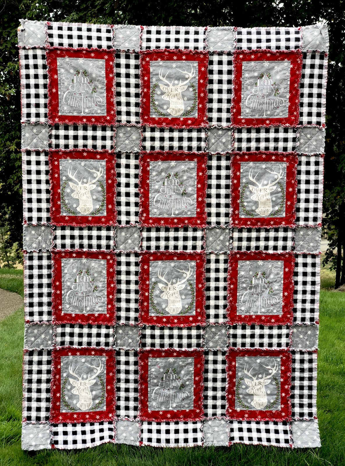 Hearthside Rag Quilt PDF pattern