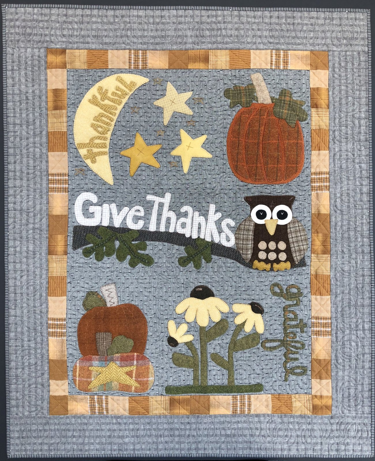 Owl'ways Thankful Wool Applique BOM