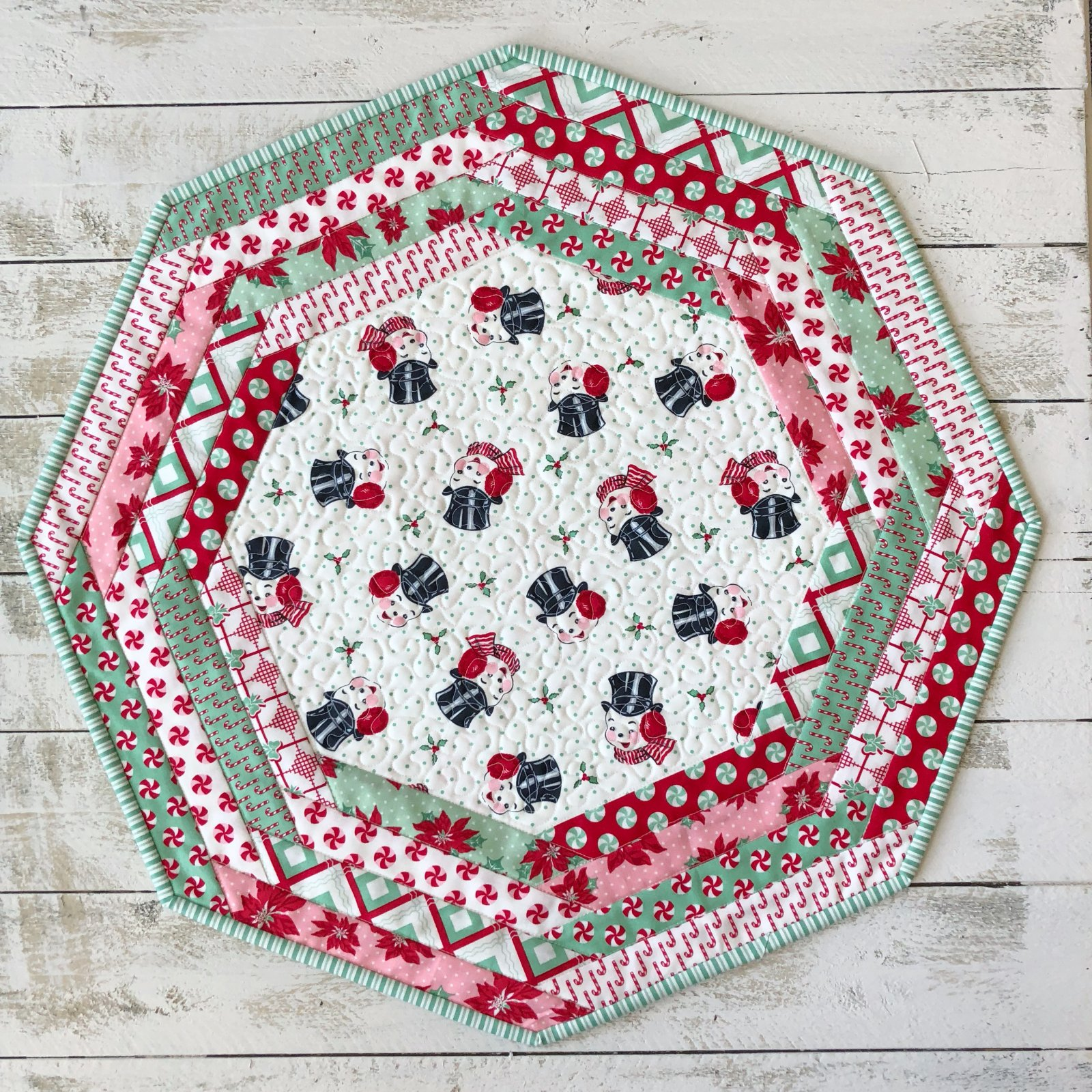 Centerpiece Tablemat kit - Sweet Christmas in White