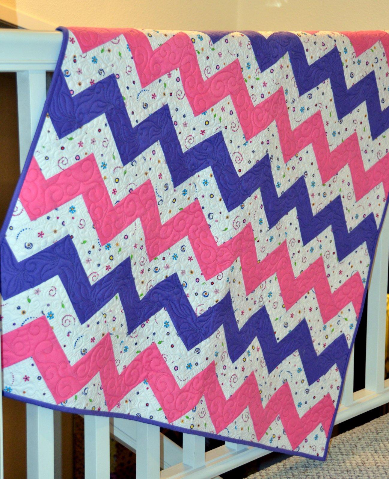 Chevron Love Baby Quilt Kit