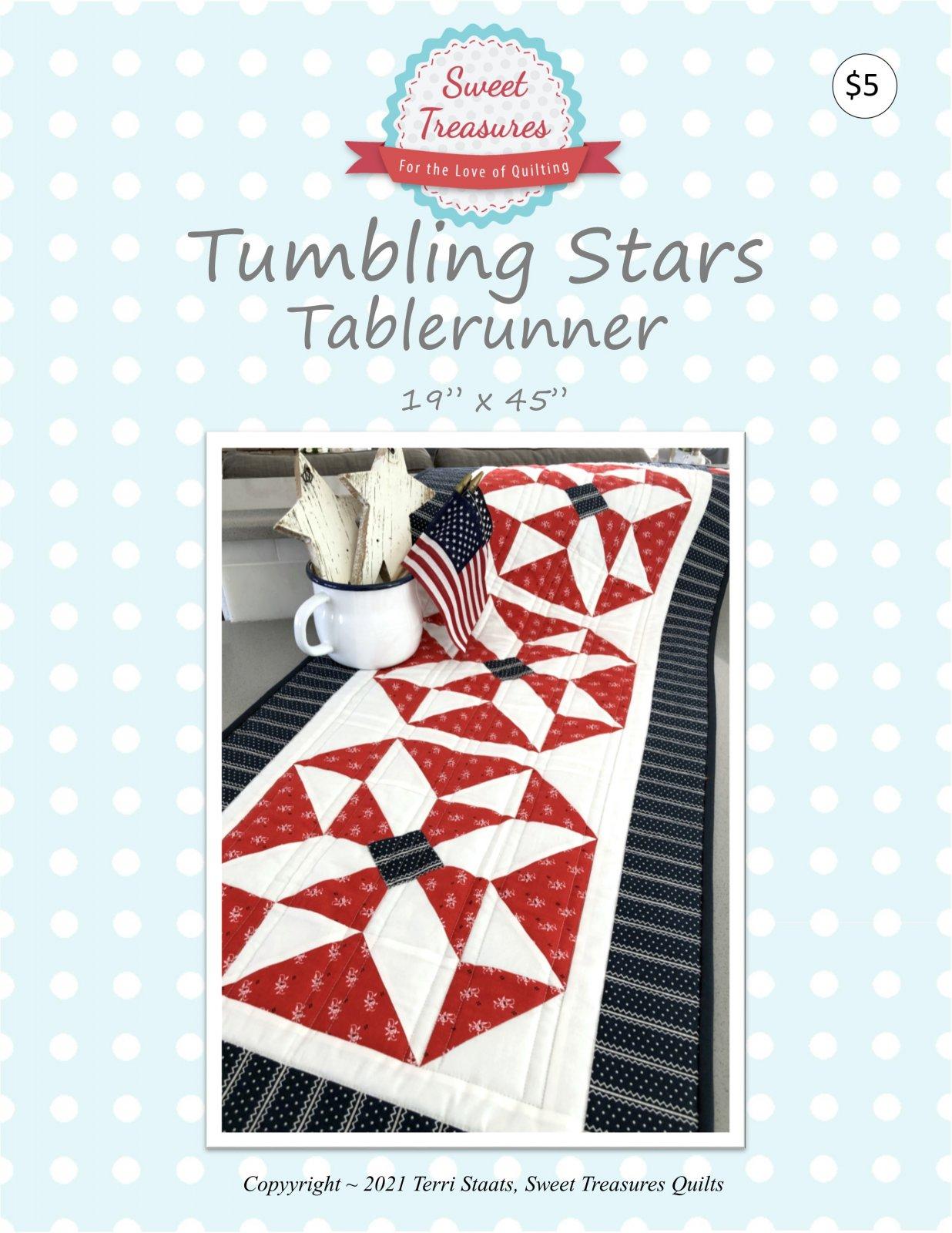Tumbling Stars Tablerunner PDF pattern