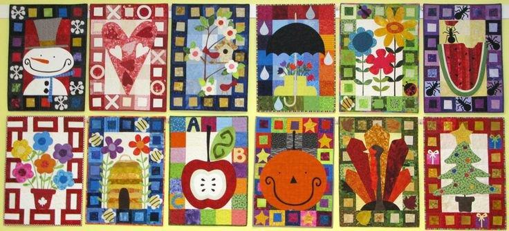 Calendar Quilts - Kim Schaefer - Pattern & 10 Kits : calendar quilts - Adamdwight.com