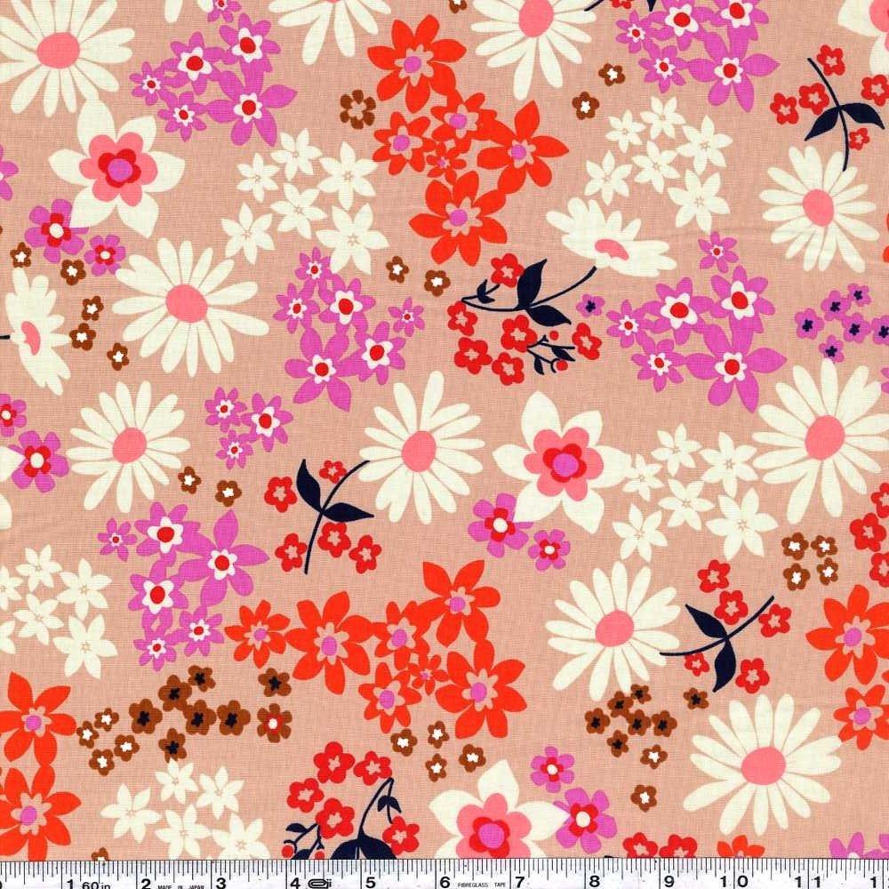 Playful - Vintage Floral Lawn - Pink