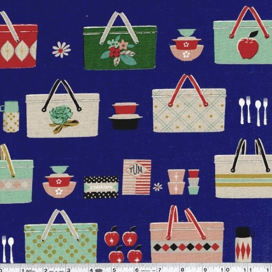 Picnic - Picnic Baskets Canvas - Cobalt
