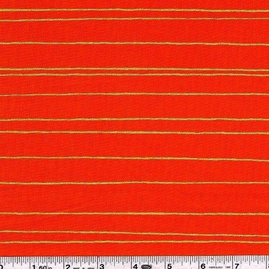 Fruit Dots - Gold Stripe - Orange