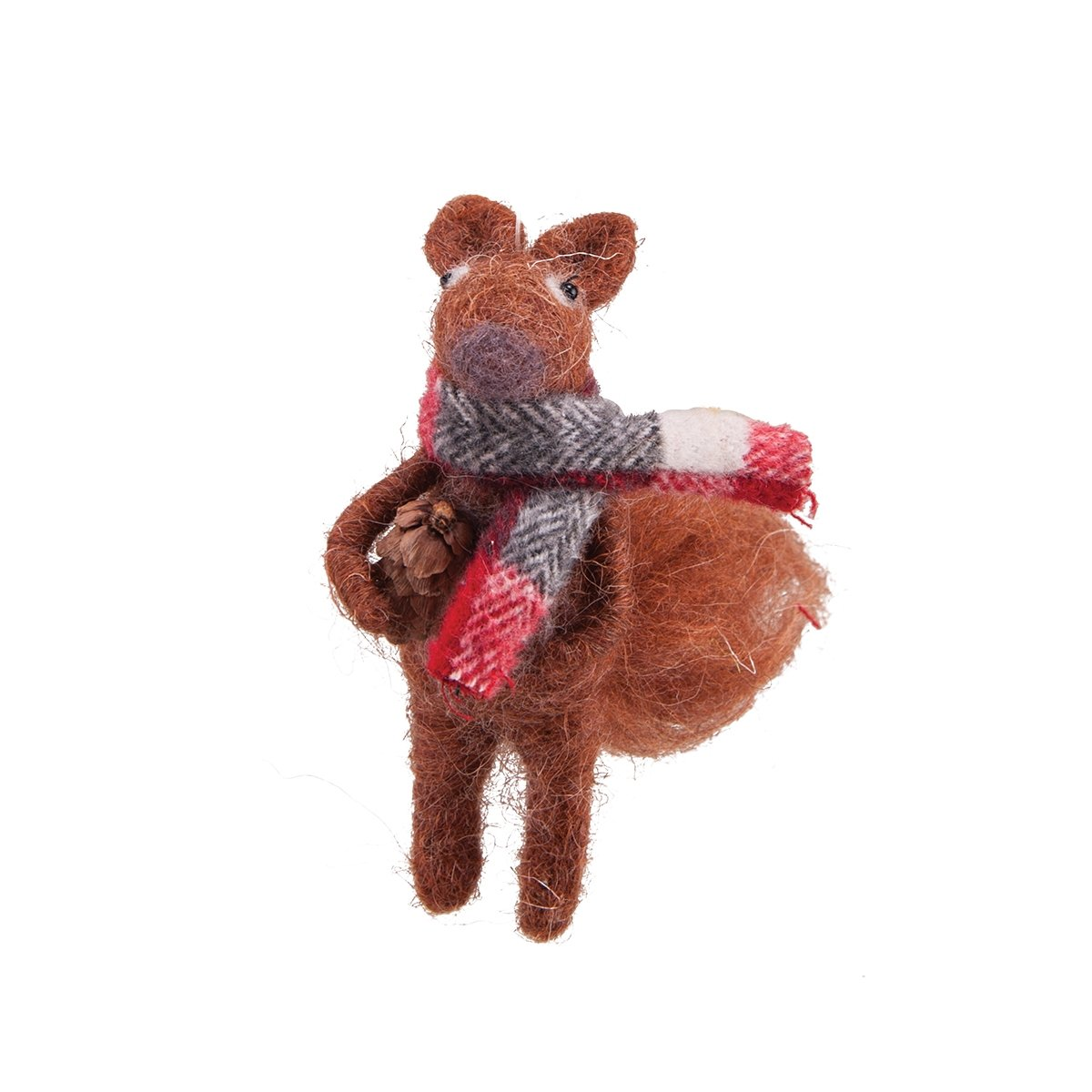 Ornament - Brown Squirrel with Scarf