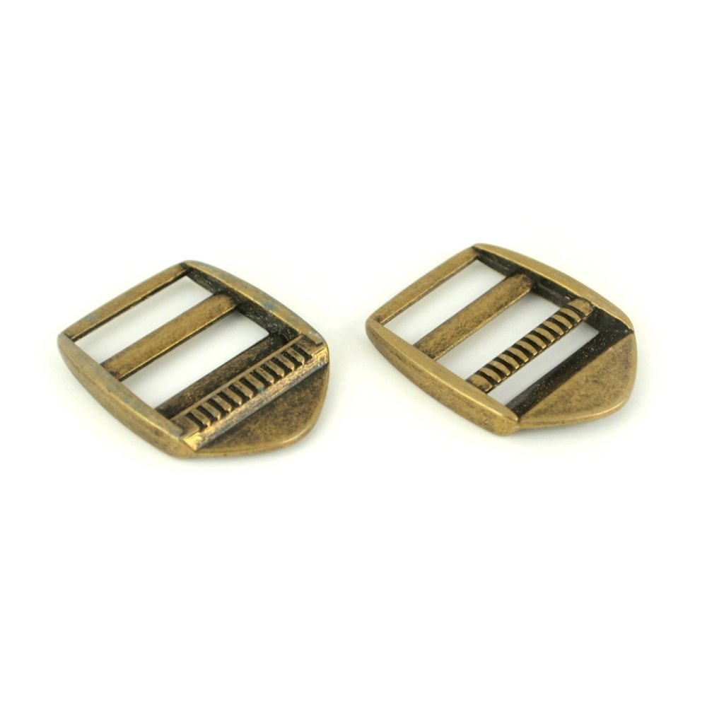 Ladder Lock Buckles - Antique Brass