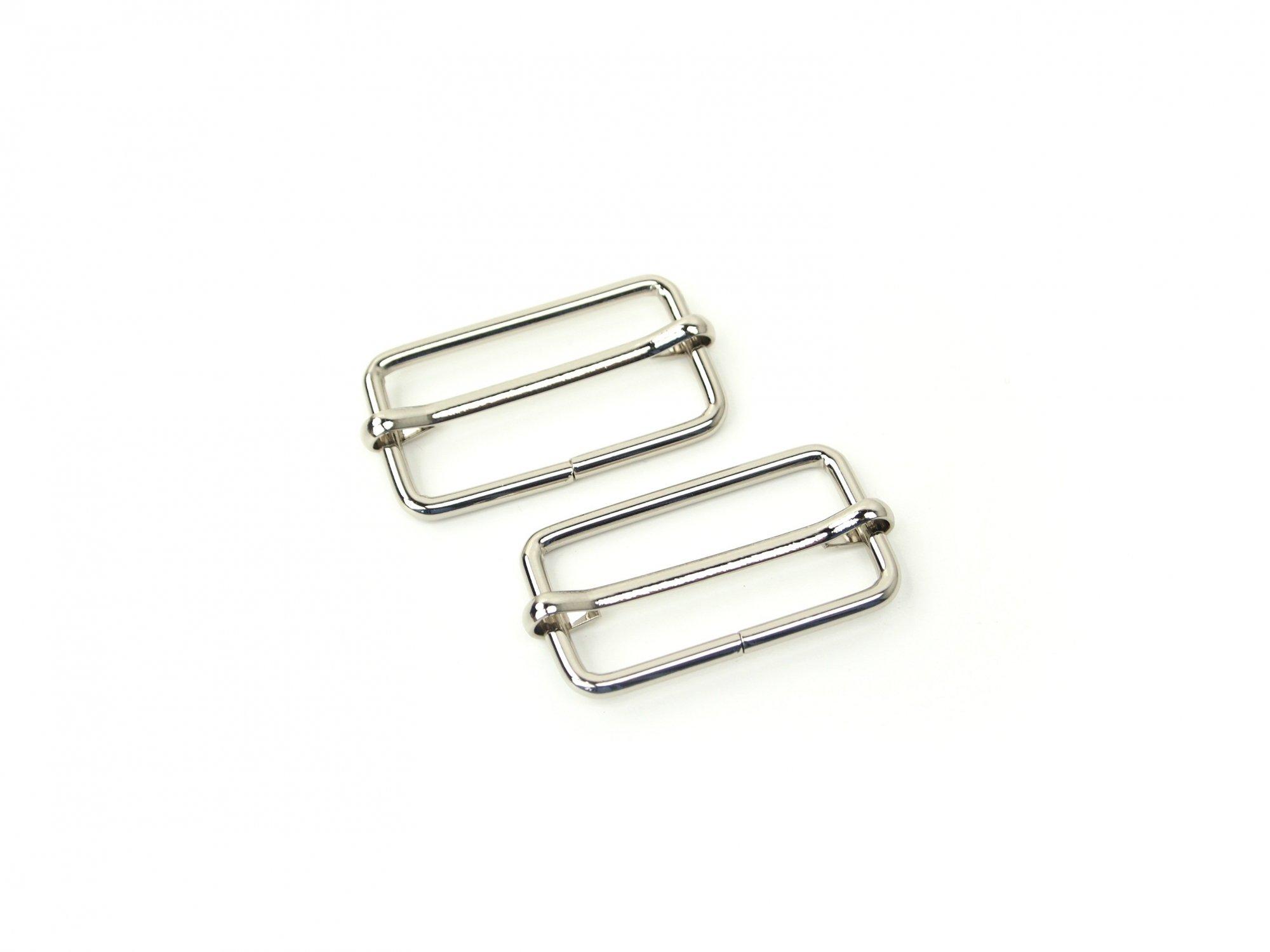 Slider Buckle - 1 1/2 Silver