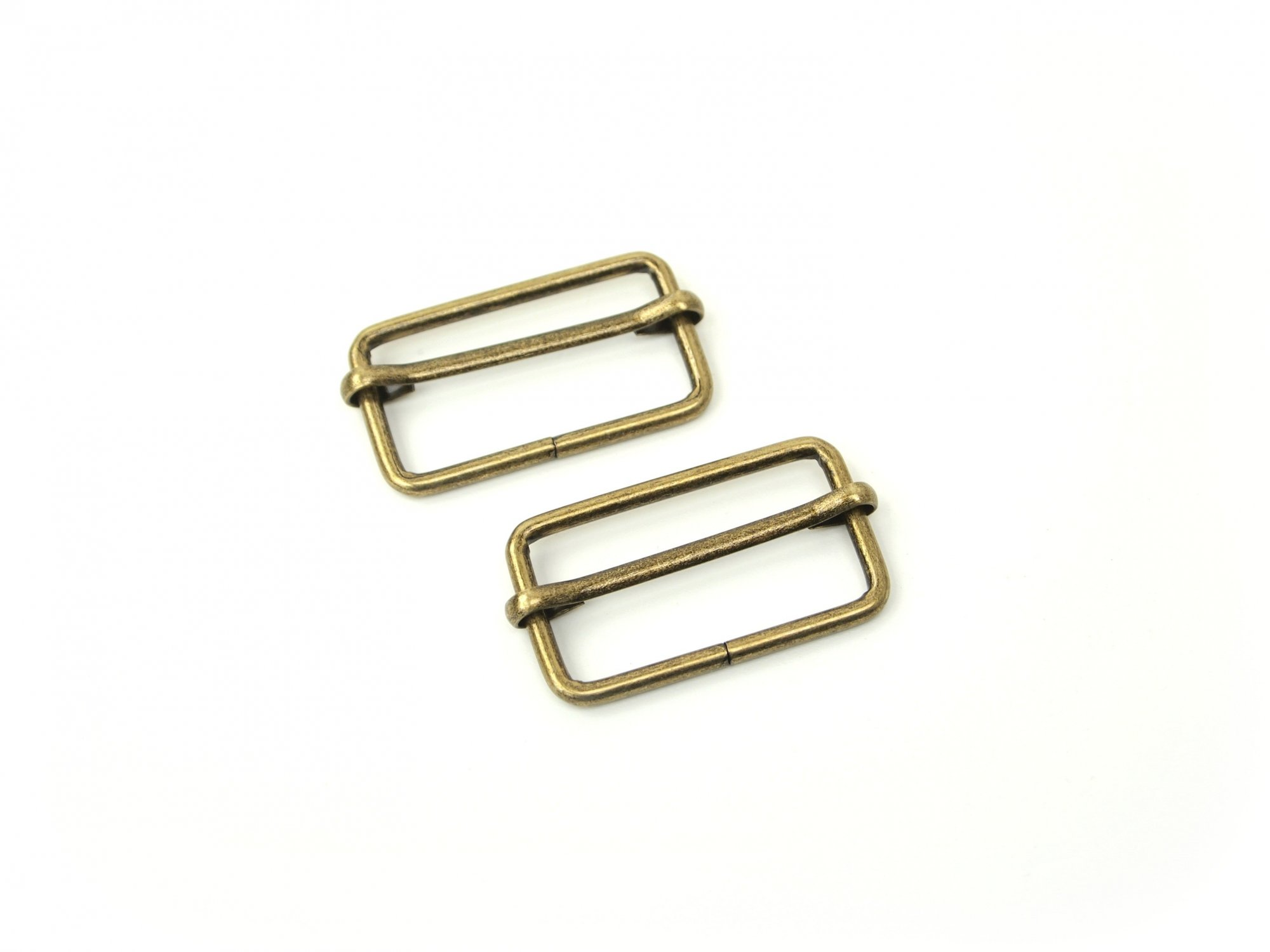 Slider Buckle - 1 1/2 Antique Brass
