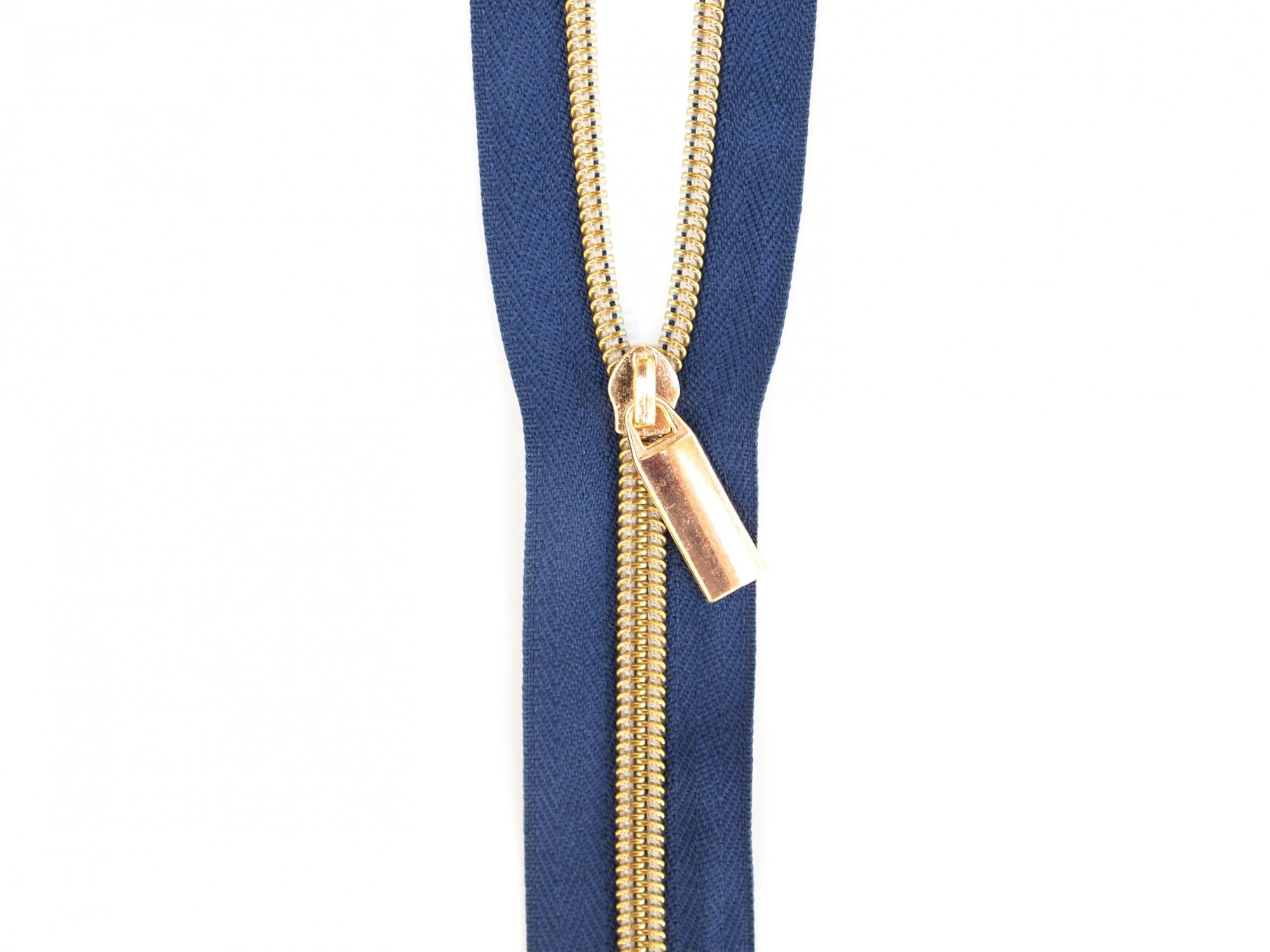 Zipper Tape - Navy Tape & Gold Zipper