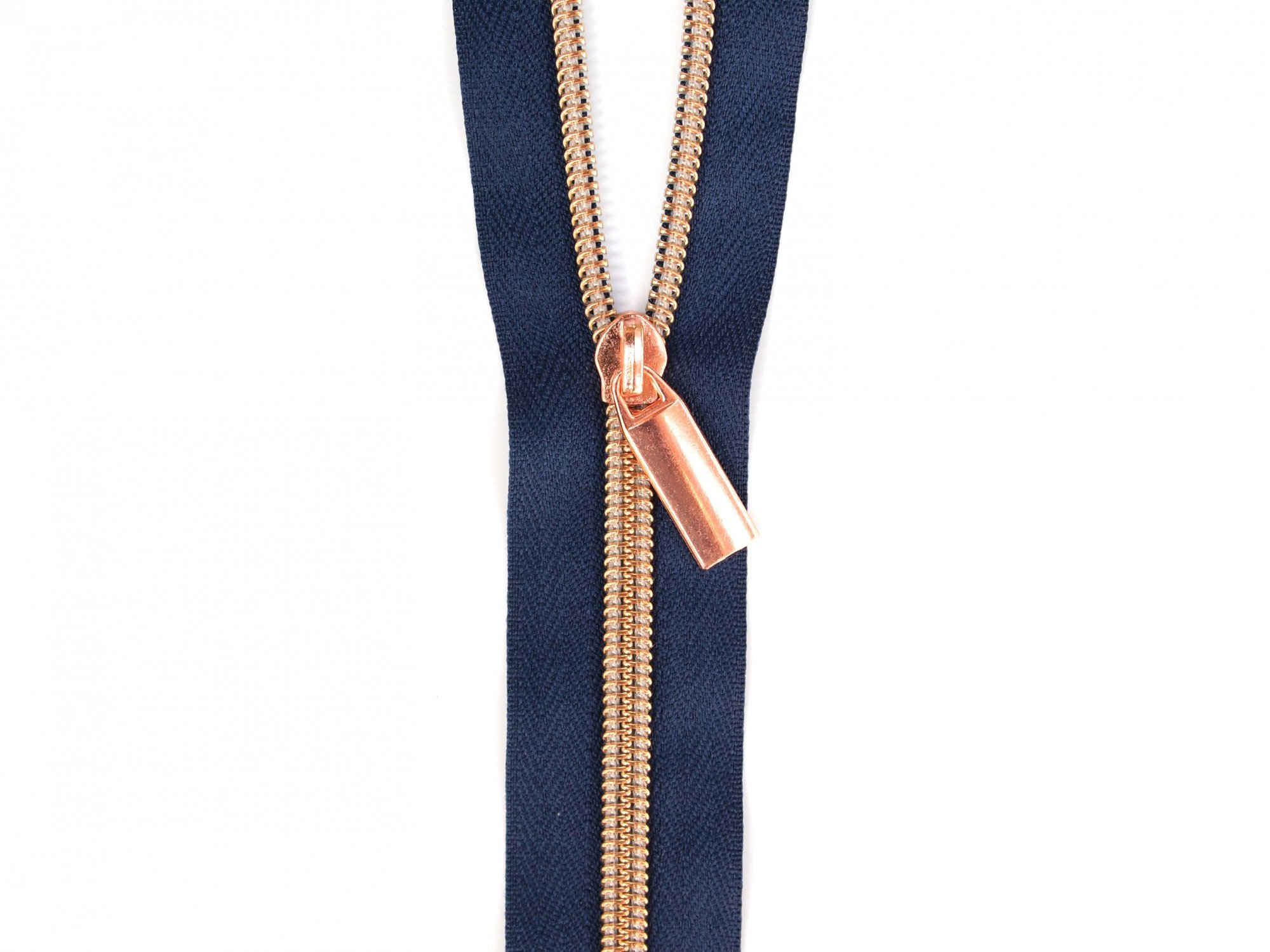 Zipper Tape - Navy Tape & Copper Zipper