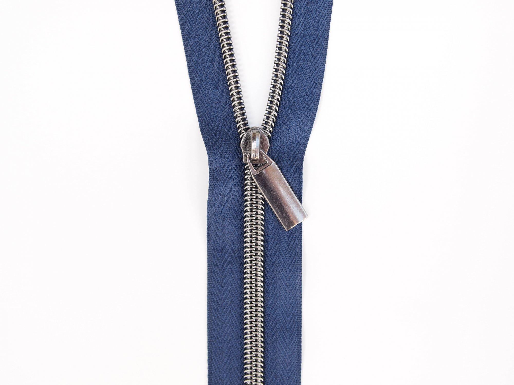 Zipper Tape - Navy Tape & Gunmetal Zipper