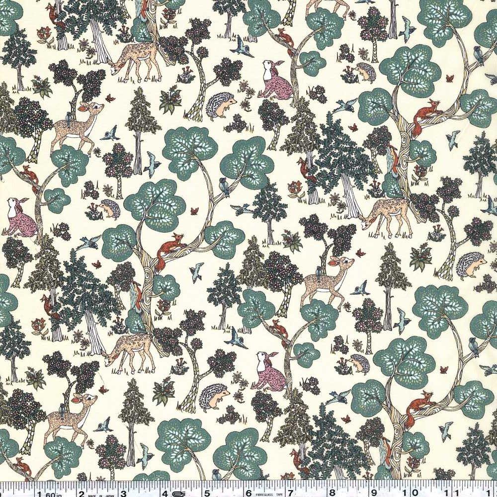 Liberty of London Tana Lawn - Doe A Deer - Sage Green