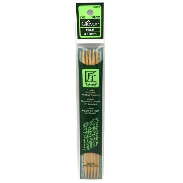 Takumi Bamboo Knitting Needles - Double Pointed 7