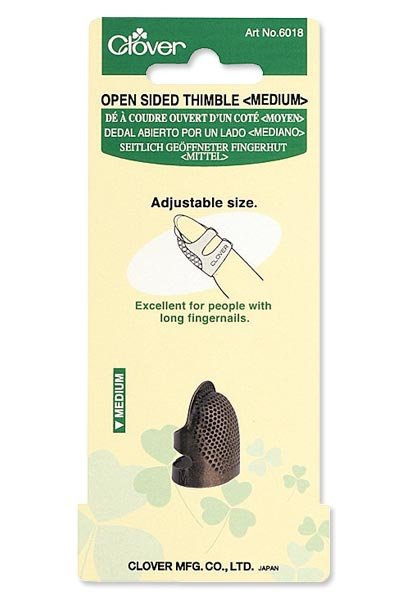Clover Open Sided Thimble - Size Medium