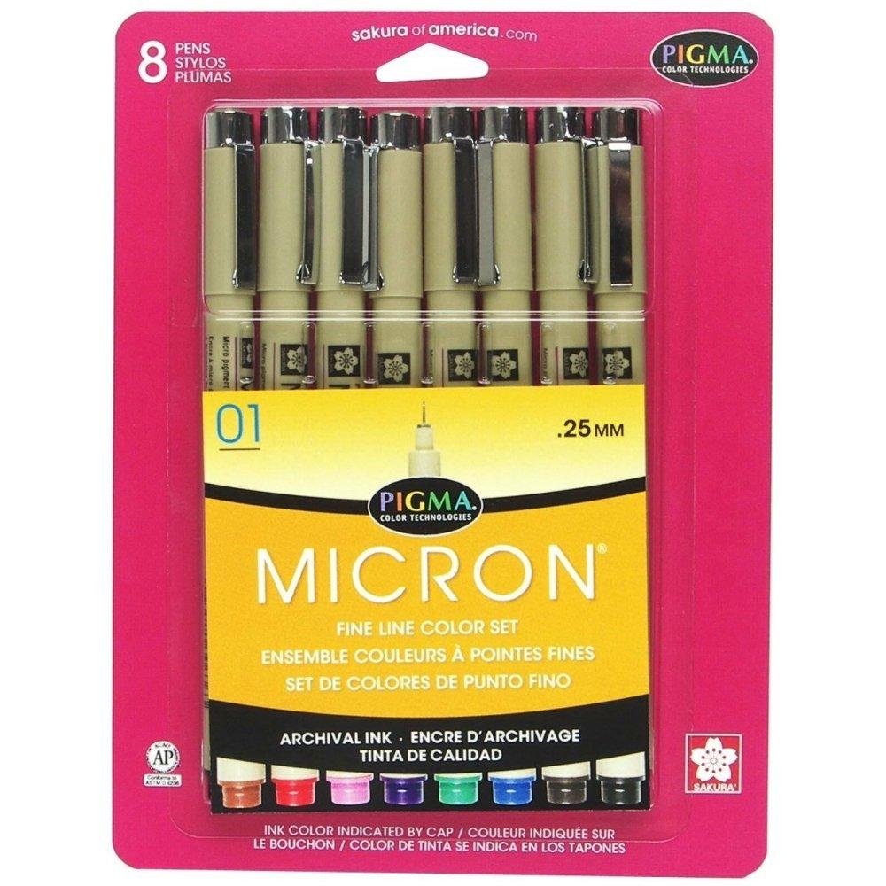Pigma Micron Fine Line Color Set