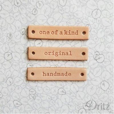 Leather Label - Handmade