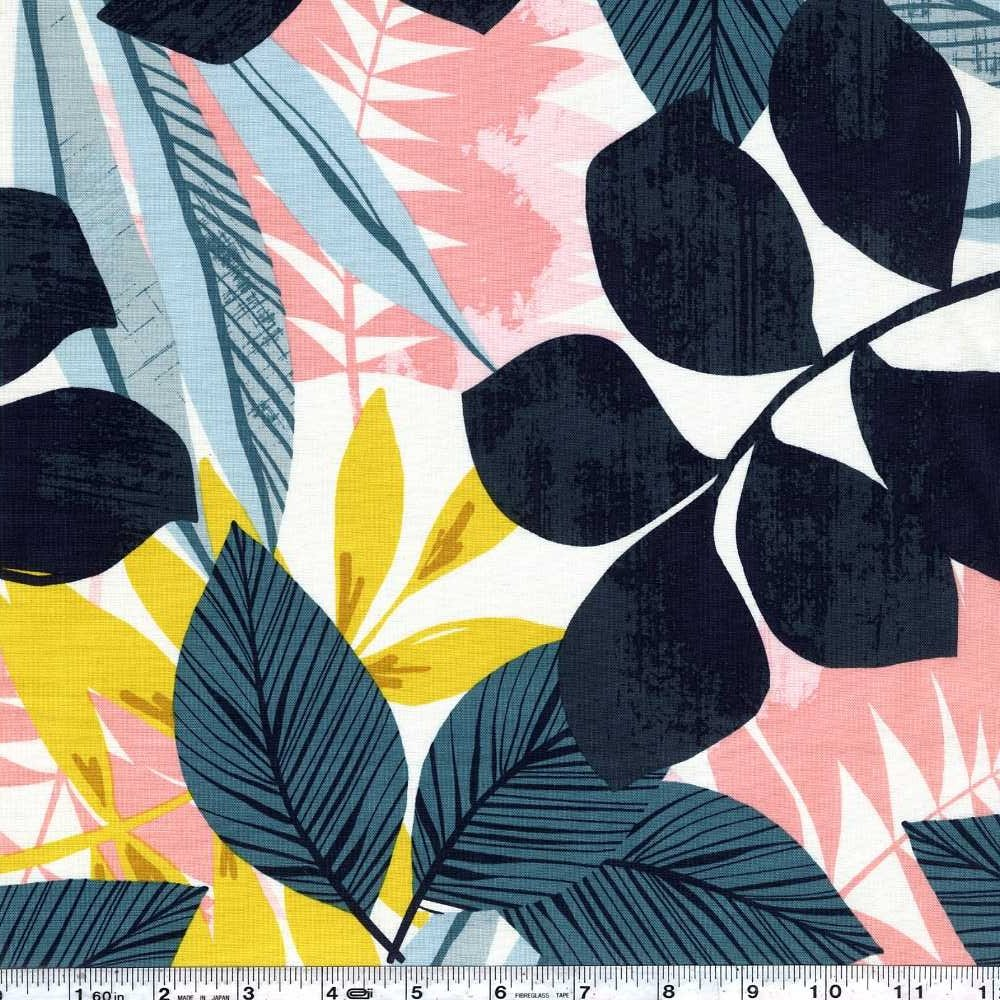 Leilani - Tropical Fronds - Ivory