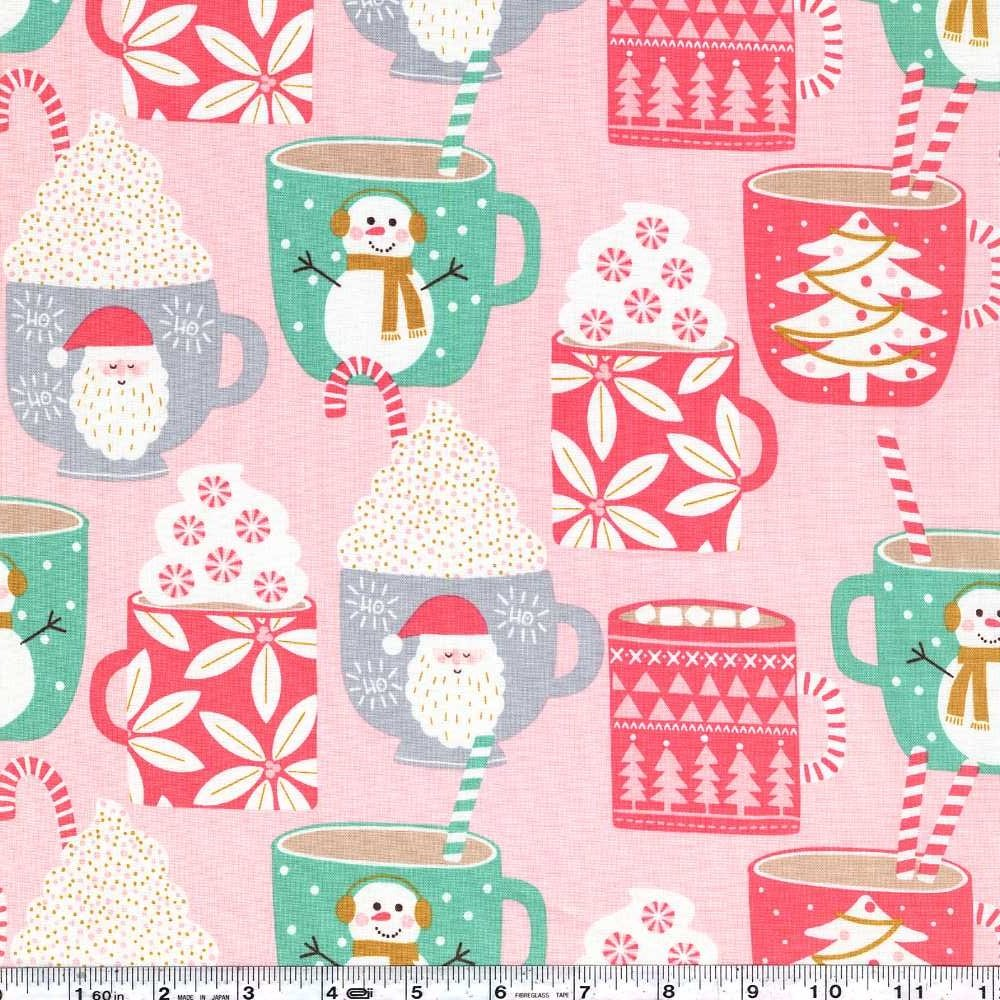 Kringle's Sweet Shop - Cups of Cocoa - Pink