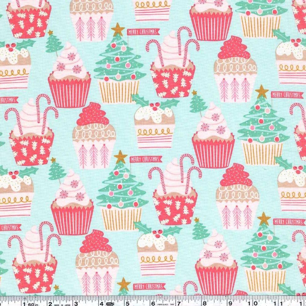 Kringle's Sweet Shop - Christmas Cupcakes - Pale Aqua