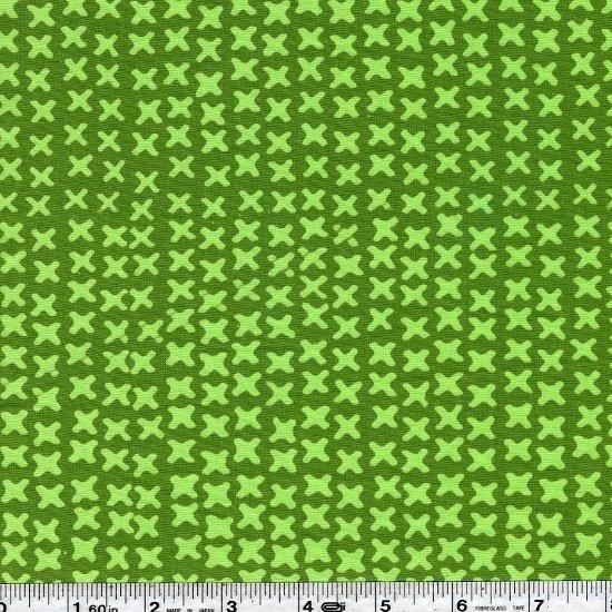 Modern Batiks - X's - Fern
