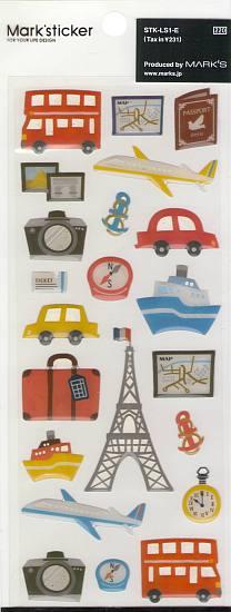 Sticker Set - Retro Travel