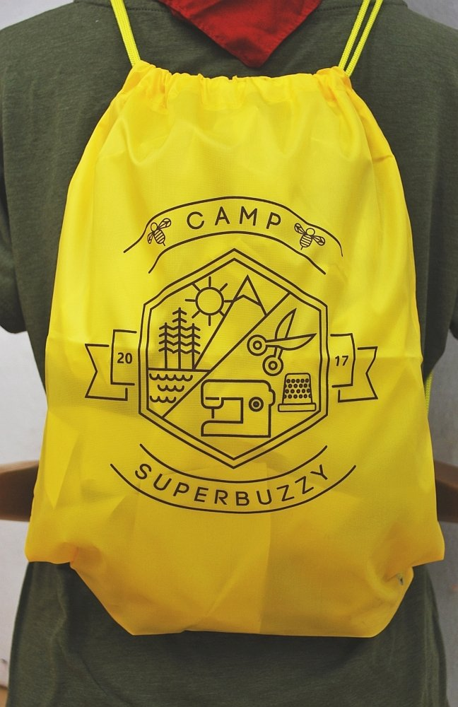 Camp superbuzzy Drawstring Backpack