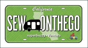 2017 Row by Row Experience License Plate - Sew On The Go