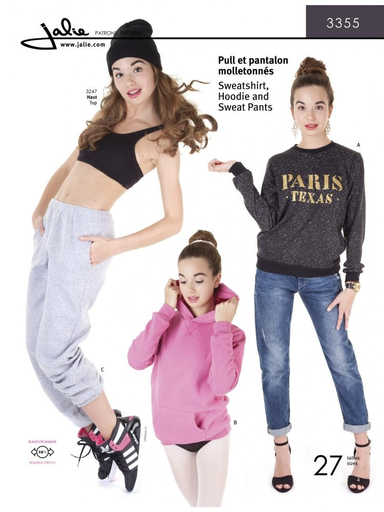 Jalie - Sweatshirt Hoodie and Sweat Pants