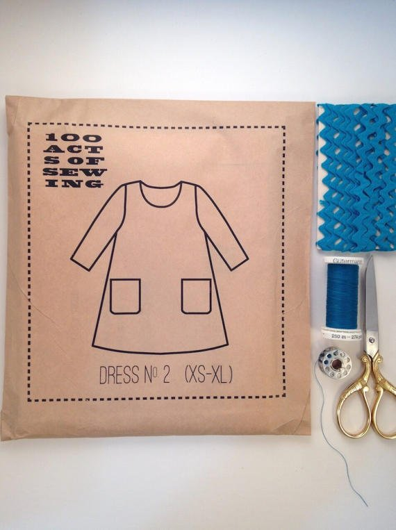 100 Acts of Sewing - Dress No. 2 - XS-4X