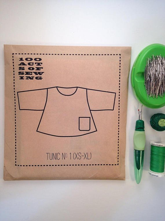 100 Acts of Sewing - Tunic No. 1 - XS-4X