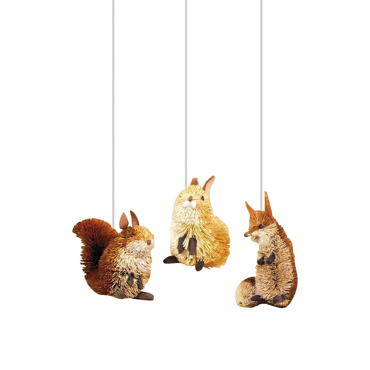Fox Squirrel & Hare Ornaments