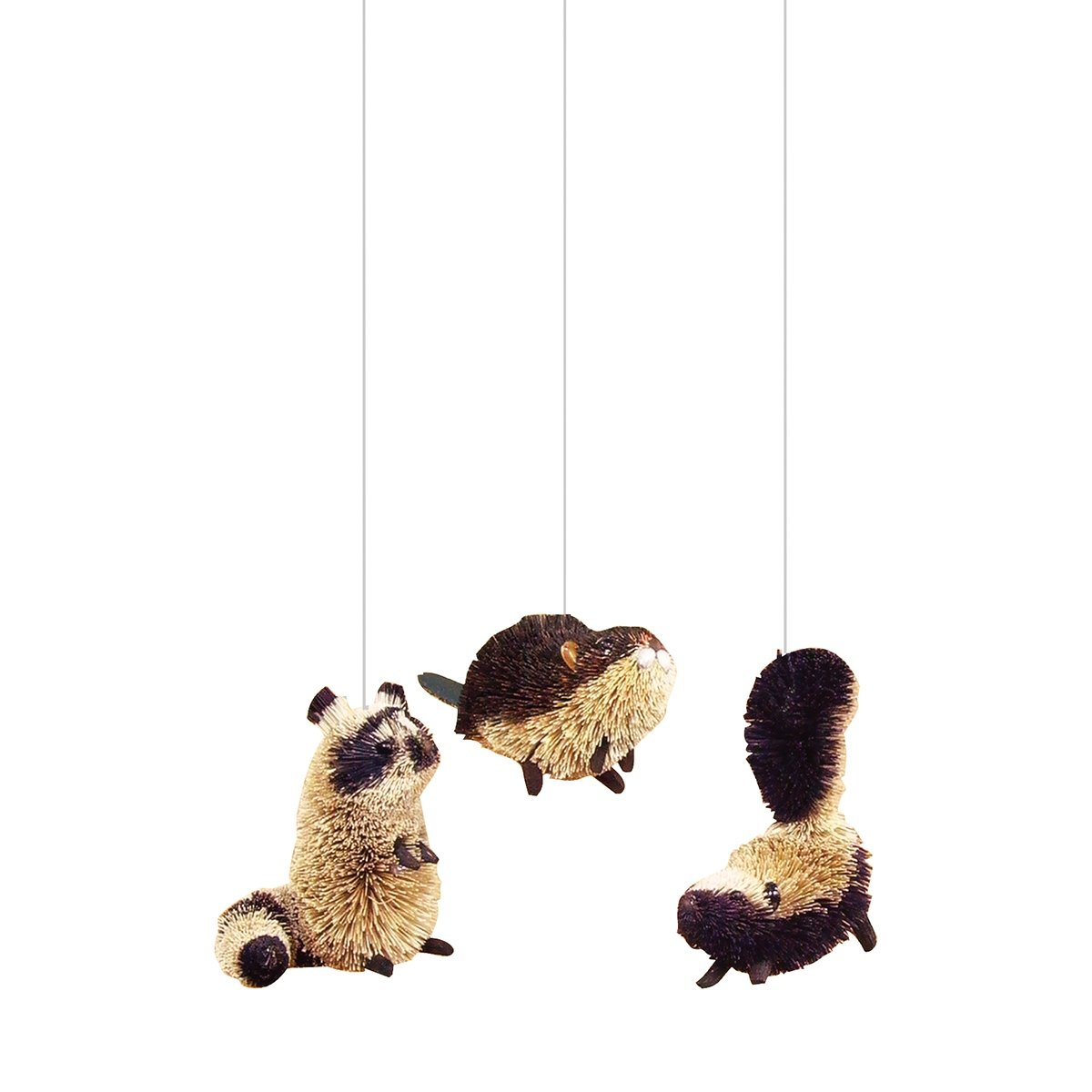 Beaver Raccoon & Skunk Ornaments