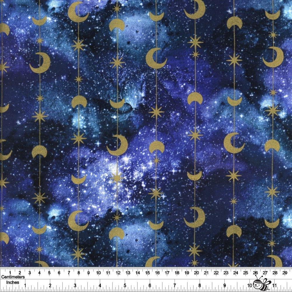 Magical Galaxy - Stars & Moons - Multi Metallic