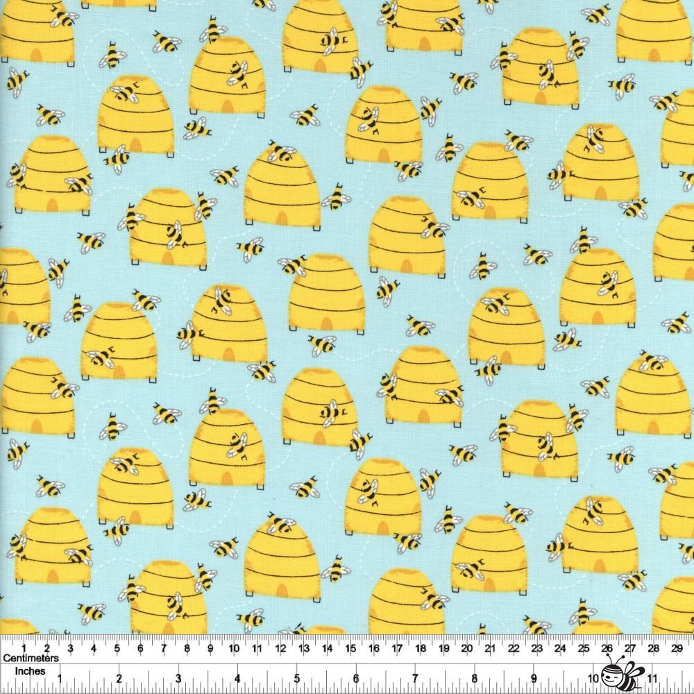Feed the Bees - Buzzy Bees - Turquoise