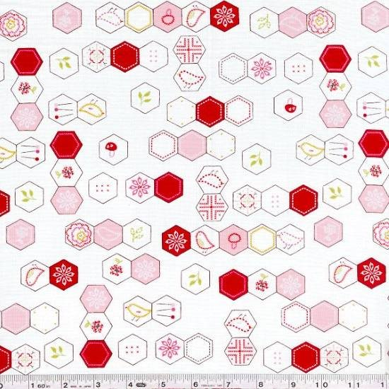 Sew Stitchy - Hexagons - Ivory