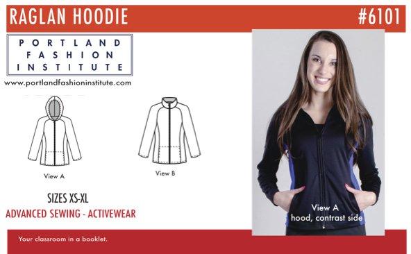 Portland Fashion Institute - Woman's Raglan Hoodie