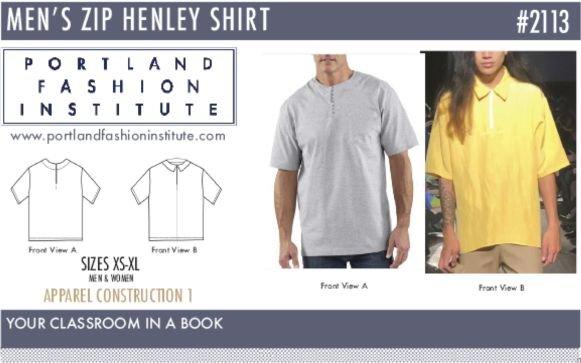 Portland Fashion Institute - Men's Zip Henley Shirt