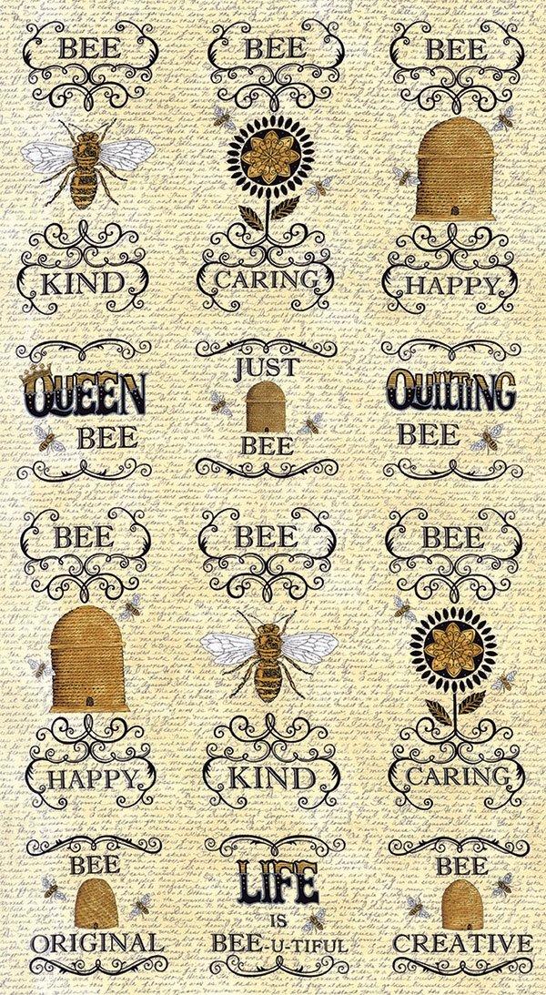 Bee Creative - Bee Blocks Panel - Honey