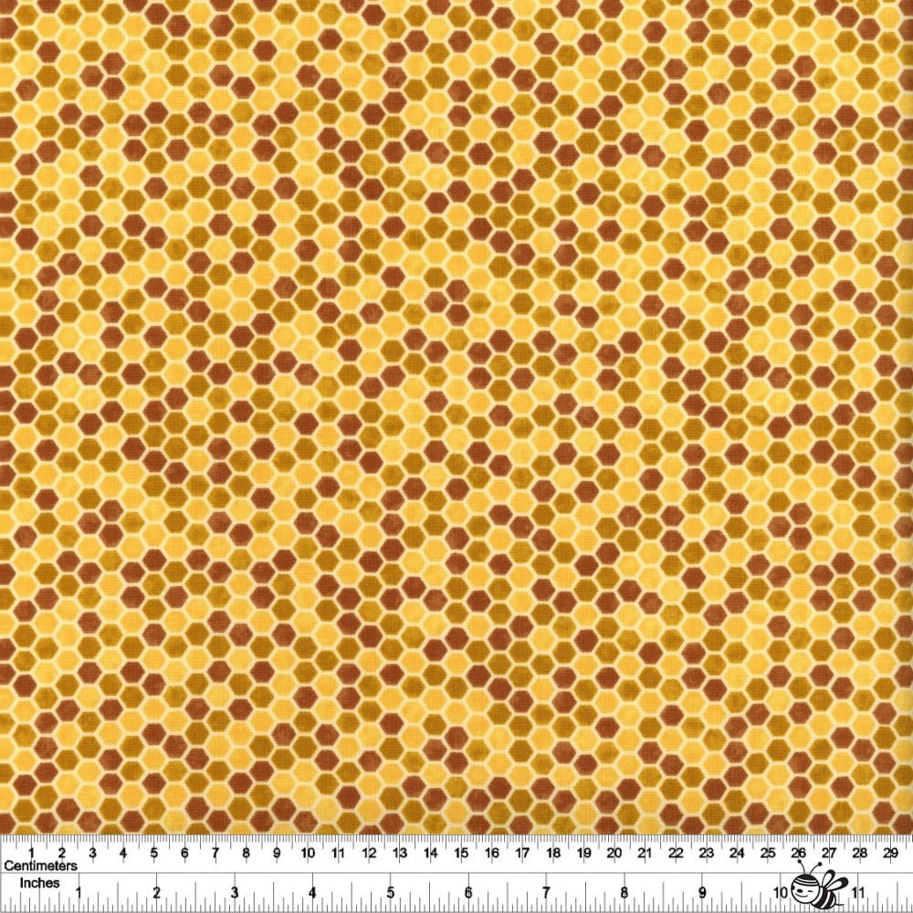 Bee Grateful - Honeycomb - Honey Yellow