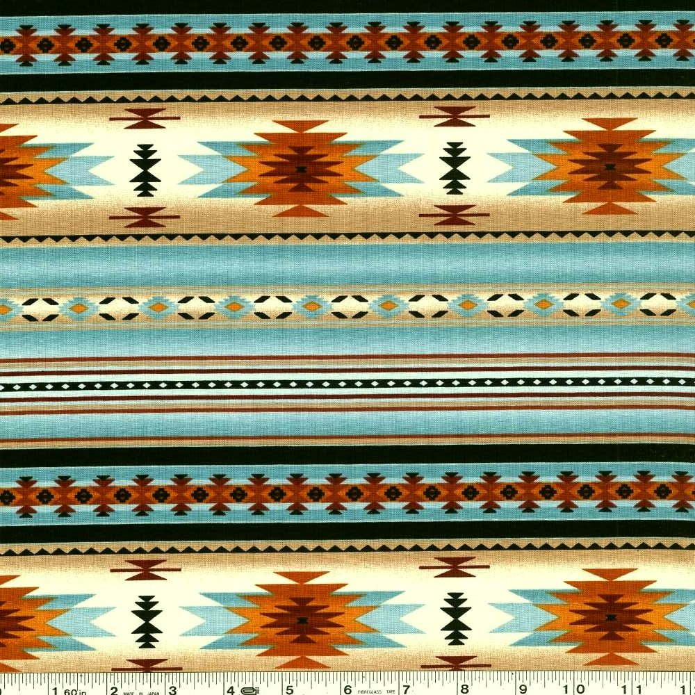 Tucson - Blanket Stripe - Light Turquoise